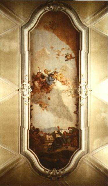 Affresco : assunzione di G.D. Tiepolo
